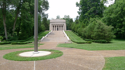 Flagpole and the Lincoln Birthplace Monument