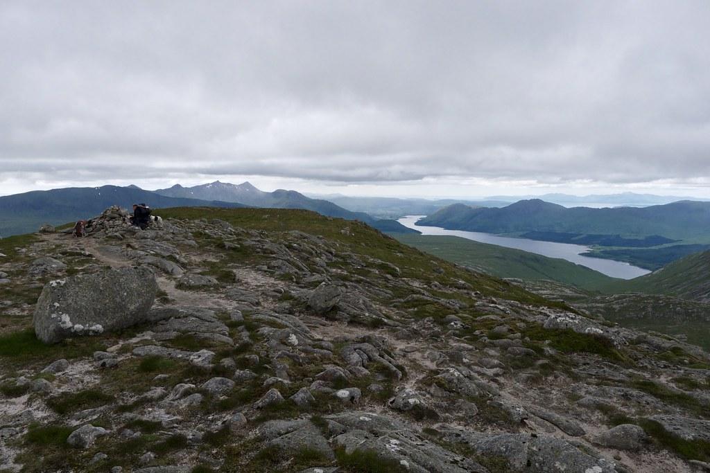 Summit of Beinn nan Aighenan