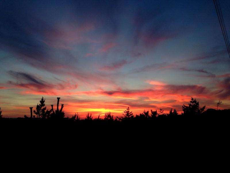 Sunset over Fire Island
