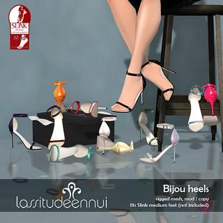 lassitude & ennui Bijou heels