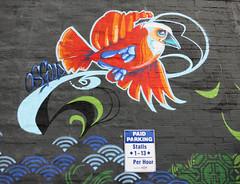 Mudbay Bird Mural by John Osgood with Wakuda