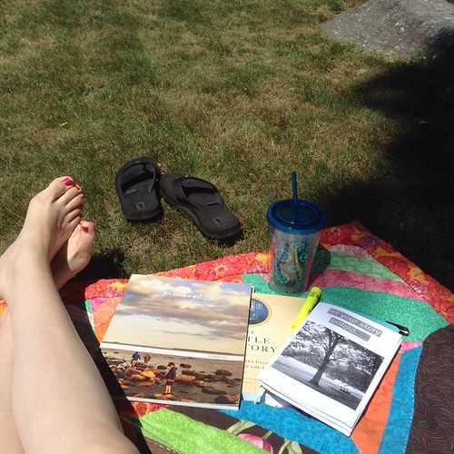 Summer afternoon. Iced tea. My journal. #thelittleoratory. #kindredmag. @ginakimmel's new zine. It's beautiful day!