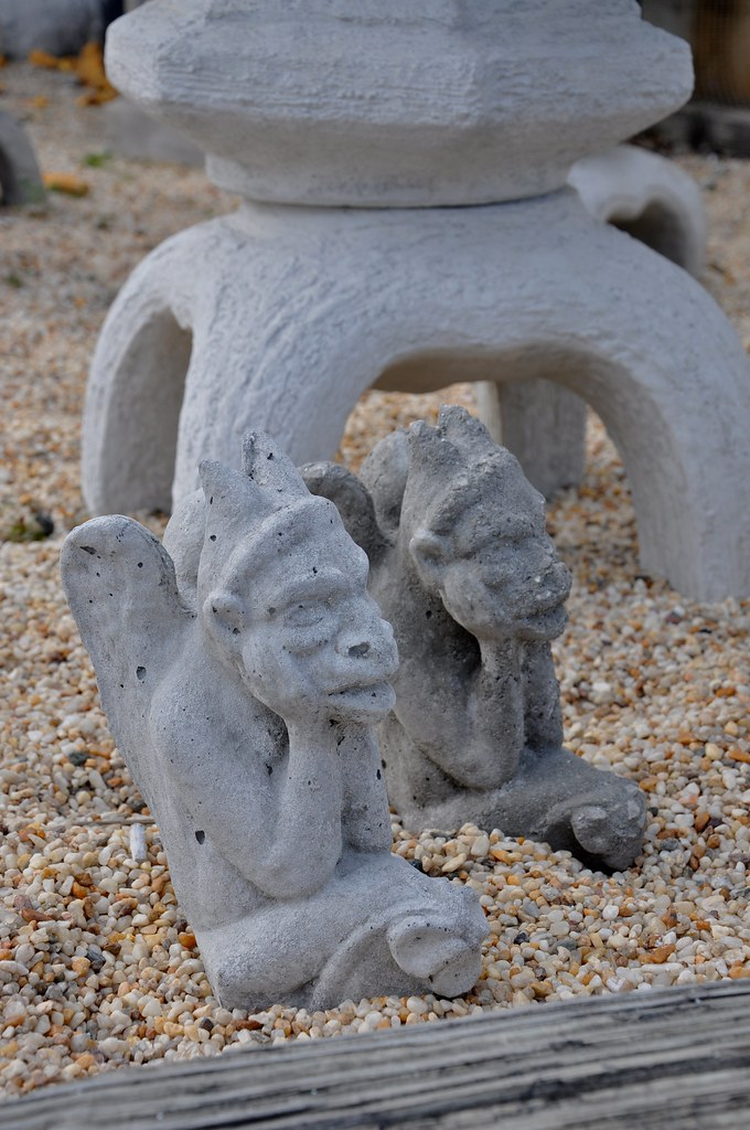 Gargoyles for R.E.M. Fans - Pat's Concrete White Marsh, MD - STILL OPEN! 2016!