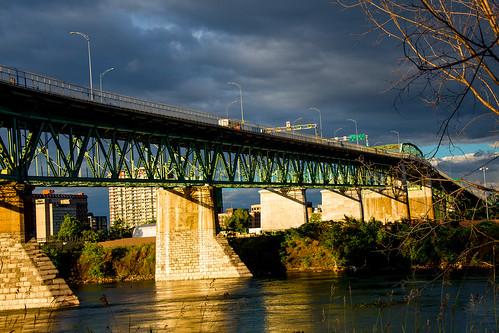 bridge light clouds canon evening montréal cloudy lumière pont nuages soir jacquescartier 2014 nuageux