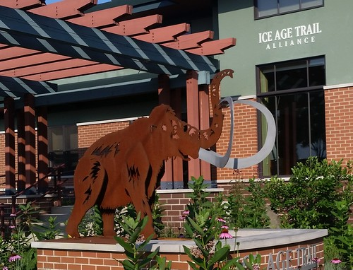 Mammoth sculpture at Ice Age Trail Alliance HQ in Cross Plains WI