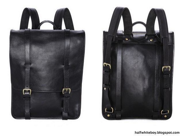 halfwhiteboy: Upgrade that backpack with some leather