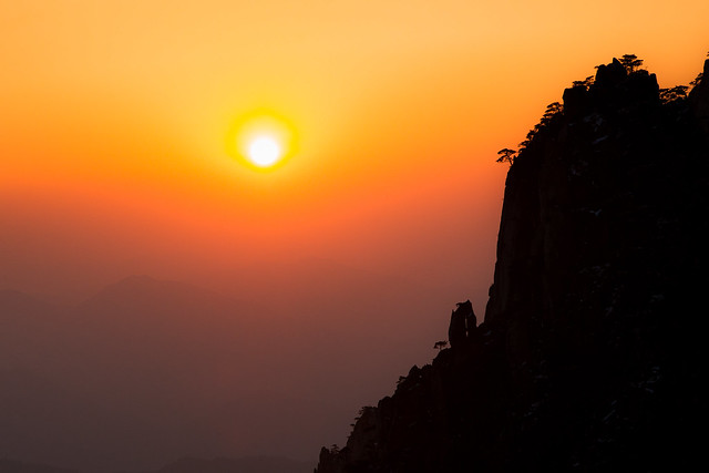 Sunset on Mt Huandshan