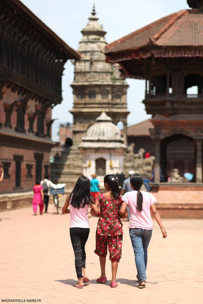 Street life bhaktapur nepal