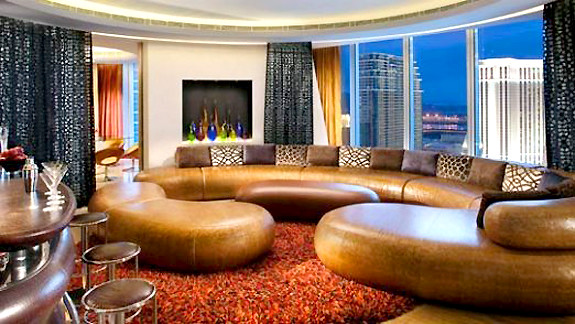 Hard Rock Hotel Rock Star Suite living area
