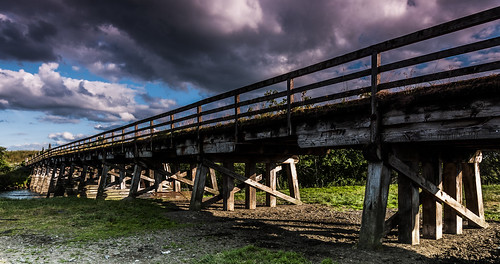 road wood bridge blue light shadow sky cloud sun water river landscape scotland highlands nikon scenery timber wide scenic tokina nd handrail filters grad tones spey d90 nethy 1116mm