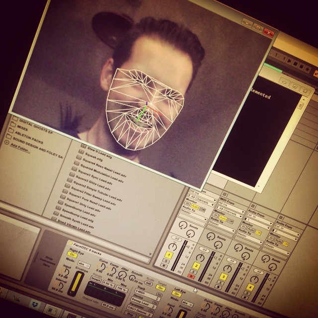 Controlling Ableton Live with my fayce. #abletonlive #ableton #face #gurn #musicstudio #musicproduction #midi #studio