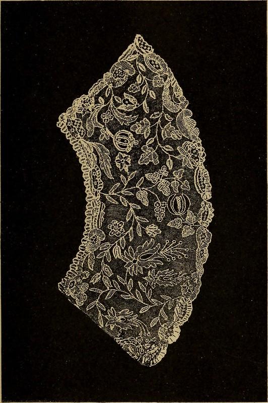 """Image from page 155 of """"Dentelles et guipures : anciennes et modernes, imitations ou copies. Varieté des genres et des points. 52 portraits documentaires, 249 échantillons de dentelles, collerettes, fraises, manchettes, rabats, etc."""" (1904)"""