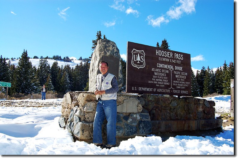 The summit of Hoosier Pass and the Continental Divide 3