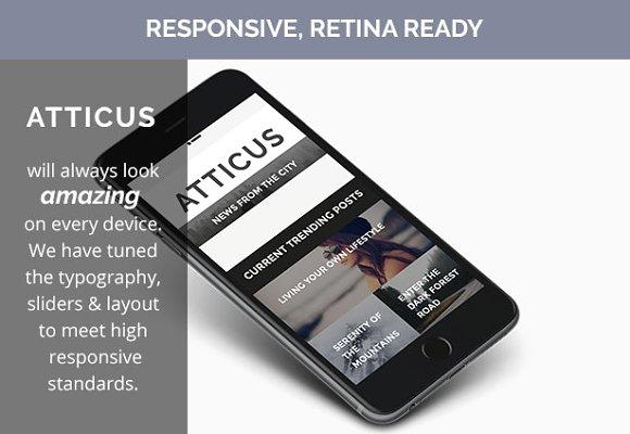 Atticus v1.3.2 - Wordpress Blog Theme