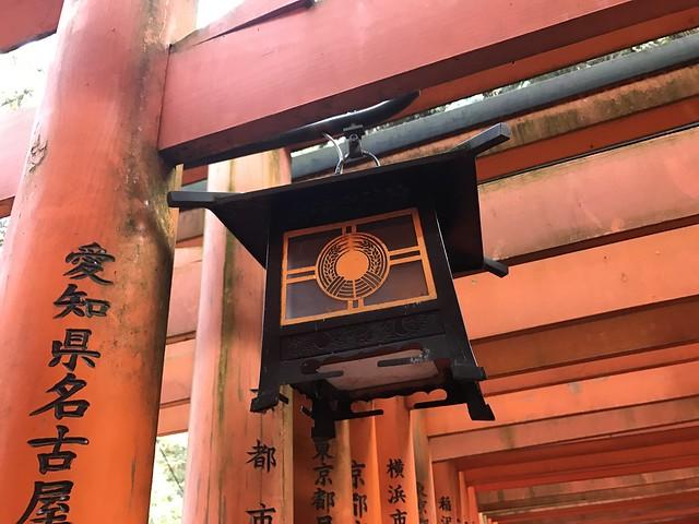 Lantern at Fushimi Inari