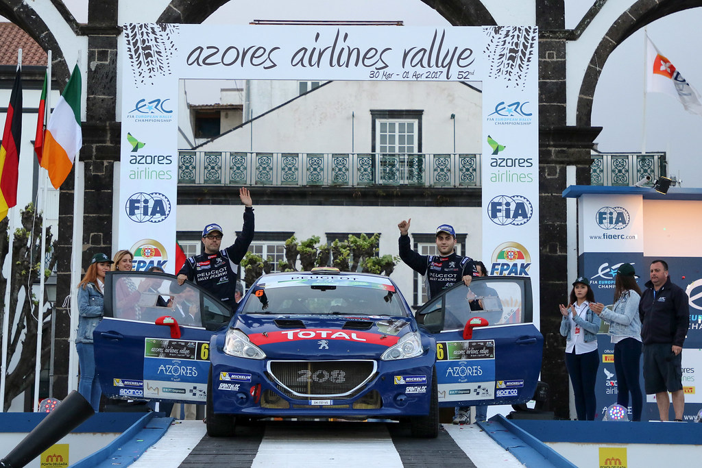 06 LOPEZ Jose Maria HERNANDEZ Borja Peugeot 208 T16 Ambiance Portrait during the 2017 European Rally Championship ERC Azores rally,  from March 30  to April 1, at Ponta Delgada Portugal - Photo Jorge Cunha / DPPI