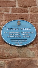 Photo of Thomas Webbe blue plaque