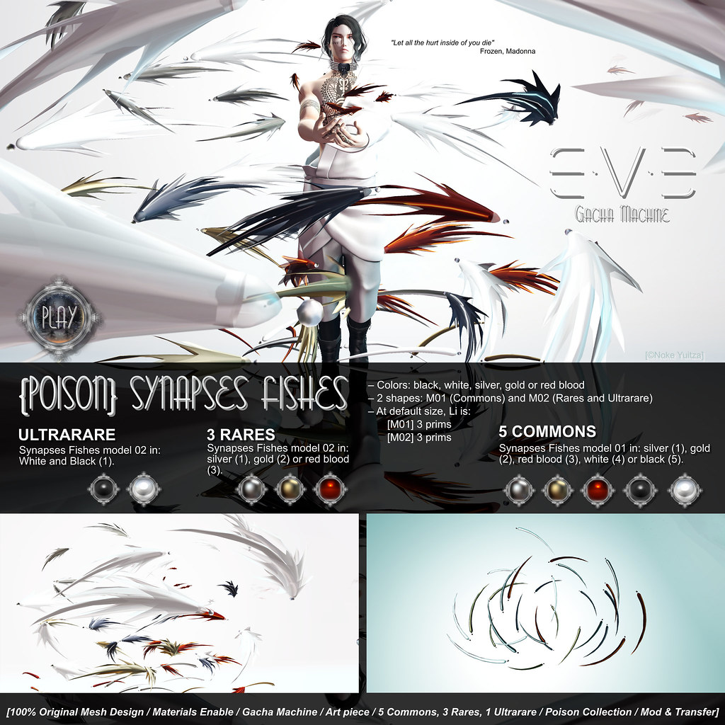 E.V.E {Poison Rain} Synapses Fishes [Info] - SecondLifeHub.com