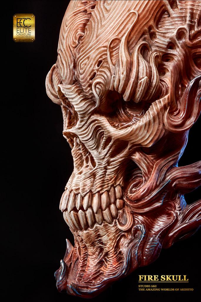 旅美特效化妝師的全心力作!ECC - 【火焰骷髏 Fire Skull】by Akihito