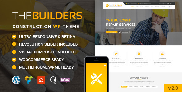 The Builders v1.0 - Construction WordPress Theme