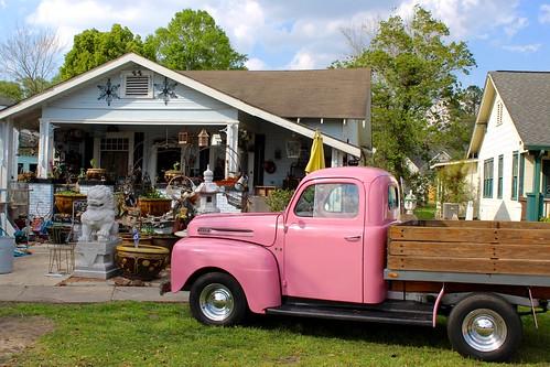 lousiana bogalusa pink ford pickup truck