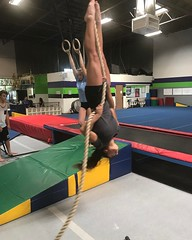 Just hanging around in preparation for the next phase of vaulting.   Stay focused kids and keep pressing your limits daily.  www.vaultermagazine.com  #beast #strong #vaultermagazine #vaulternews #vaulterclub #polevault#polevaulting #gymnastics #polevaultg