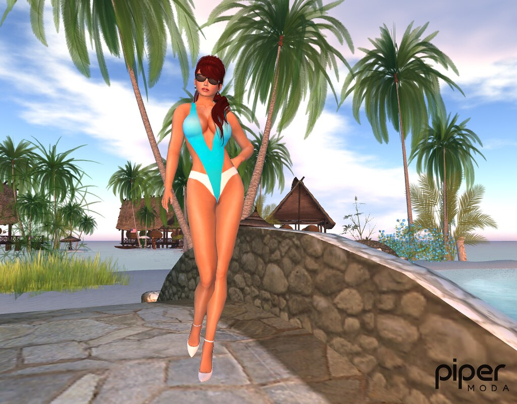 a78305e79b5cc Piper Moda 'Amanda Cyan' swimsuit | Liaranne modelling in Ca… | Flickr