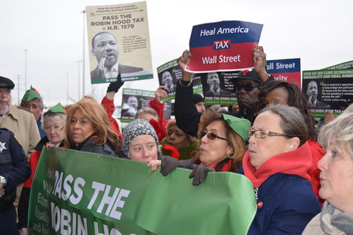 Chicago Action for Robin Hood Tax 4/4/14