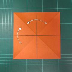 วิธีพับกระดาษเป็นรูปนกยูง (Origami Peacock - ピーコックの折り紙) 003
