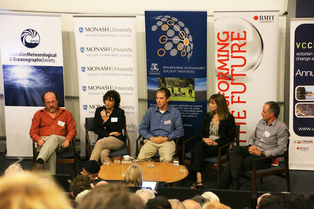 Macquarie university, Panel discussion on climate impacts at Melbourne p…