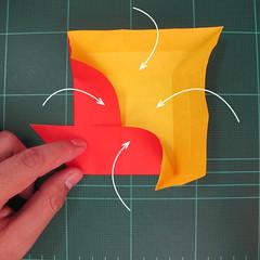 สอนวิธีพับกระดาษเป็นดอกกุหลาบ (แบบฐานกังหัน) (Origami Rose - Evi Binzinger) 006