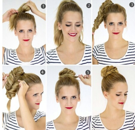 blog pinterest braid bun