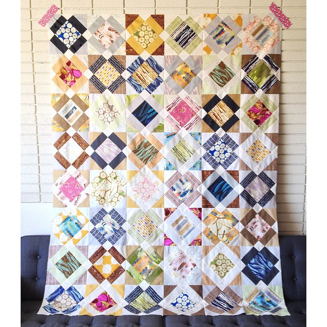 My completed Boys Nonsense quilt top!