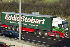 Volvo FH 6x2 Tractor with 3 Axle Curtainside Trailer - PX11 BWV - H4635 - Elena - Eddie Stobart - M1 J10 Luton - Steven Gray - IMG_4765