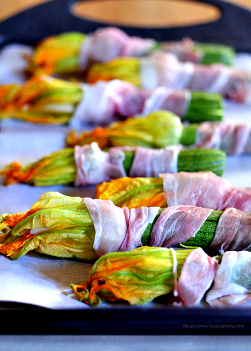 Scarmoza Stuffed Zucchini Flowers© by Haalo