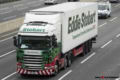 Scania R440 6x2 Tractor with 3 Axle Refrigerated Trailer - PE11 AZB - Donna Michelle - Eddie Stobart - M1 J10 Luton - Steven Gray - IMG_5432