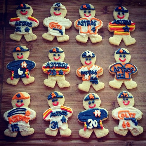 Laura made the best #Astros cookies ever for my birthday. #mlb #cookies @astrosbaseball