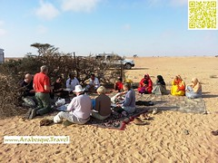 Breakfast with Omani locals - During 16 days tour 2013