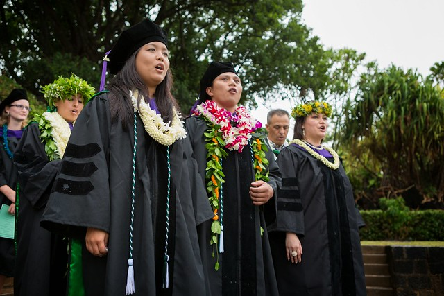 "<p>William S. Richardson School of Law graduates open their procession with Oli Aloha No William S. Richardson in honor of the founder and namesake of the law school. The ceremony was held at the University of Hawaii at Manoa's Andrews Amphitheater on May 18, 2014. For more photos go to <a href=""https://www.law.hawaii.edu/photos/law-school-graduation-ceremony-may-2014"" rel=""nofollow"">www.law.hawaii.edu/photos/law-school-graduation-ceremony-...</a></p>"
