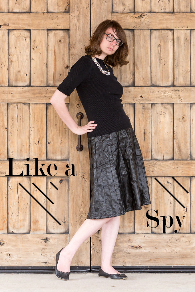 black, monochrome outfit, popbasic, spy, wyoming, never fully dressed, withoutastyle,