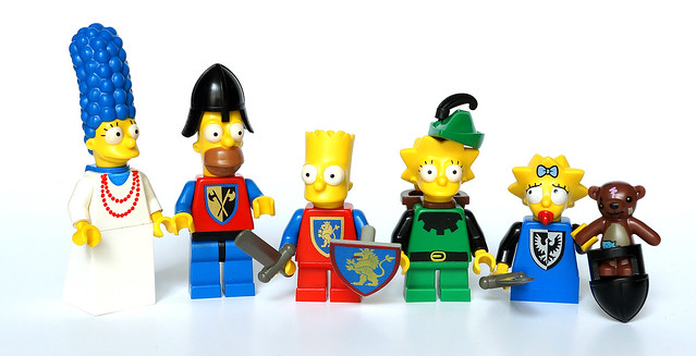 The Castle Simpsons family