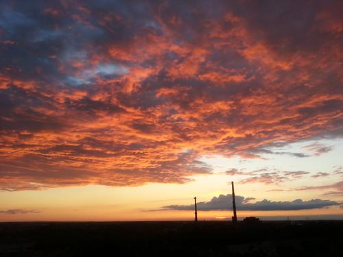sunset factory poland opole zachod slonce fabryka