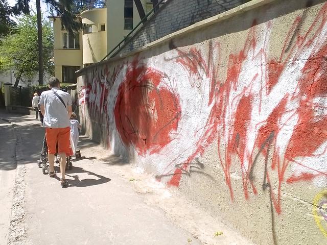 street, graffiti. Lviv, Ukraine