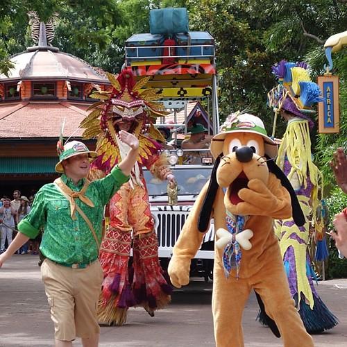Mickey's Jammin' Jungle Parade。プルートさん。