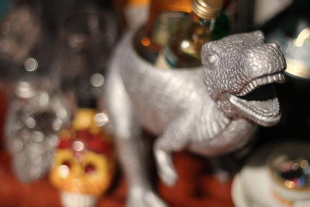 Saturday: dinosaur filled with booze