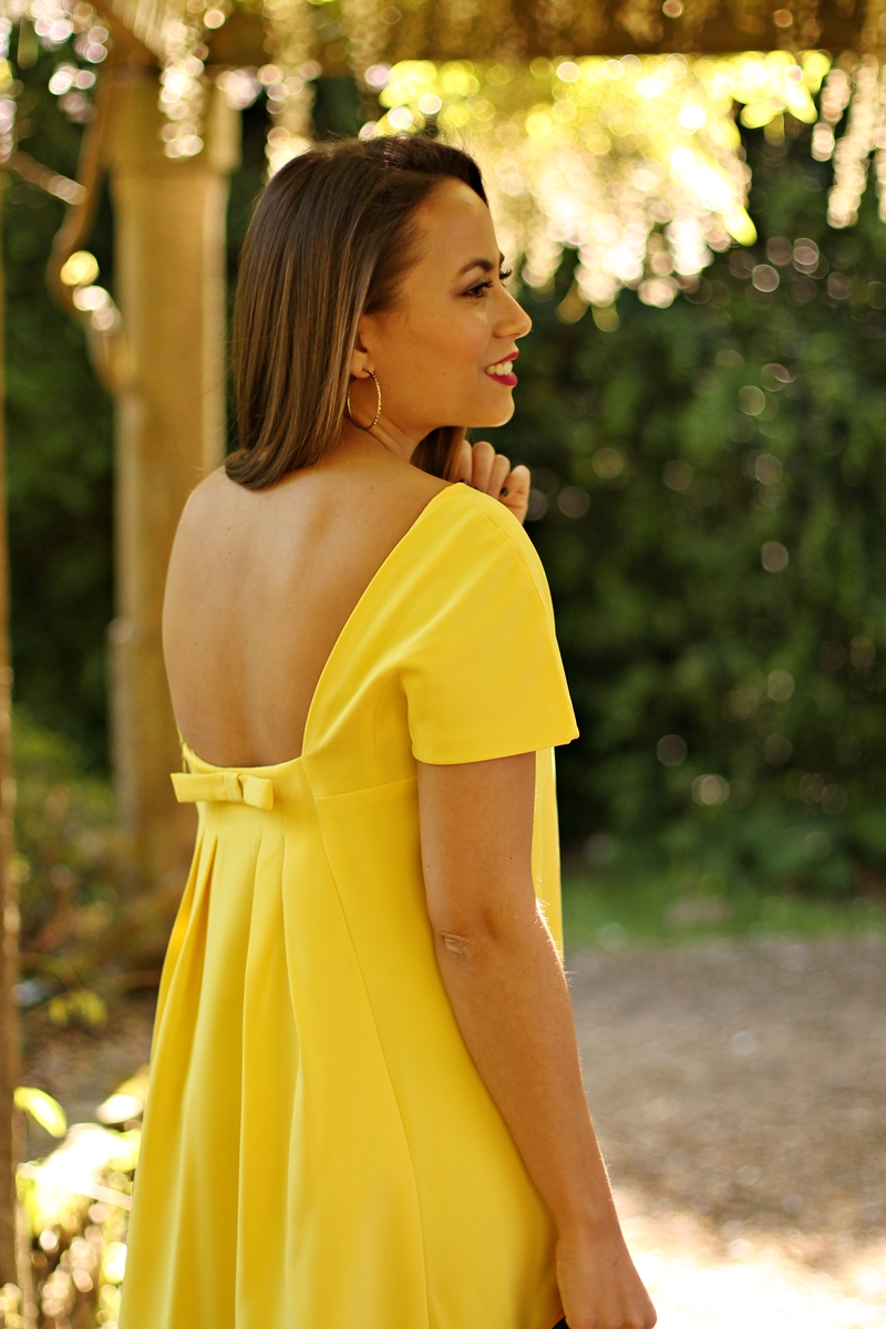 vestido, yellow dress