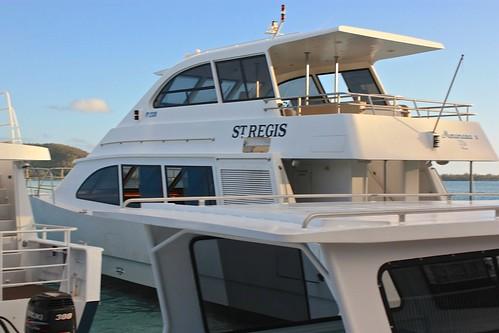 St. Regis Bora Bora private yacht