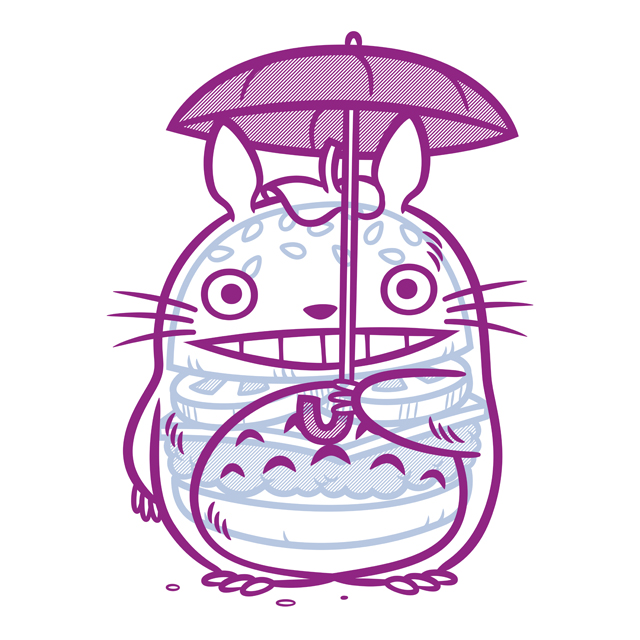 Cheeseburger Totoro