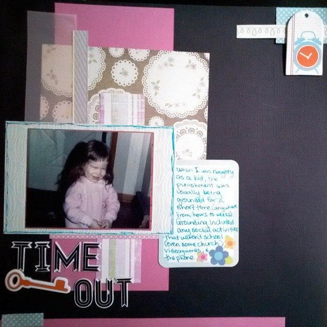 LOAD514 - Time Out Scrapbook Layout