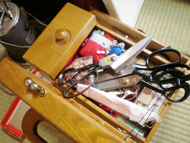 Sewing Box with Scissors